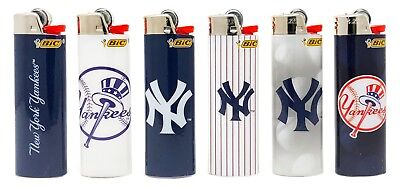 Bic MLB New York Yankees Lighters Set of 6, All Brand New, Officially Licensed