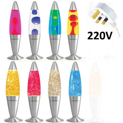 """16"""" Soothing Motion Lava Lamp Relaxing Glitter Liquid Wax Light Novelty Gift New"""