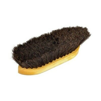 """Equerry Large Dandy Brush - Black - Black - 8"""" X 2.5"""" - Wooden Horse Hair Vale"""