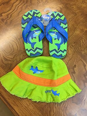 Stephen Joseph Boys Octopus Flip Flop & Bucket Hat Set Large 11-12