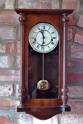 """Vintage German """"Rapport"""" 8-Day Wall Clock with Westminster Chimes"""