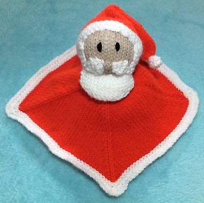 KNITTING PATTERN - Santa Comforter Baby Father Christmas Toy - Great for charity