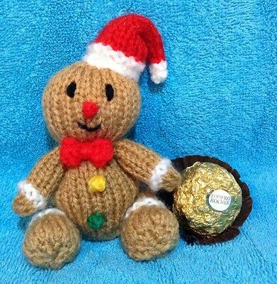 Knitting Pattern Christmas Gingerbread Man Chocolate Cover Fits
