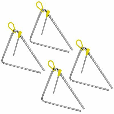 "Tiger 8"" Pack of 4 Triangle Instrument with Beater"