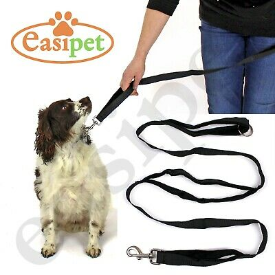 Dog Lead 3 Handle Padded Leash Long Close Short Long Control Training Easipet
