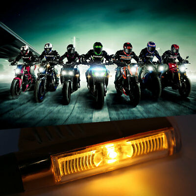 Motorcycle Lamp 9 LED Strip/1LED Blade Modified Signal Light With LED Decoder ^