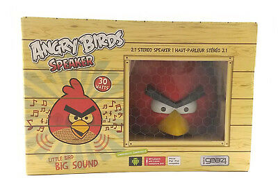 GEAR 4 Red Angry Birds 2.1 Stereo Speaker 30 Watts Iphone Android Tablet