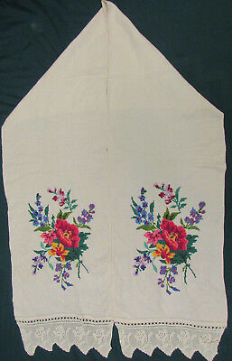 Vintage Embroidered Ukrainian folk towel rushnik handmade №329