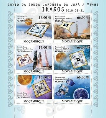 Japan/JAXA IKAROS Venus Spacecraft Probe Space Stamp Sheet #1 (2010 Mozambique)
