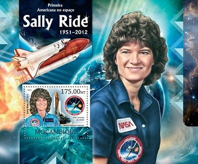 SALLY RIDE NASA Astronaut Challenger Space Shuttle Stamp Sheet 2/2012 Mozambique