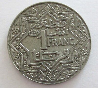 Morocco Franc Y 36.2 (ND) 1924, Circulated, Uncertified