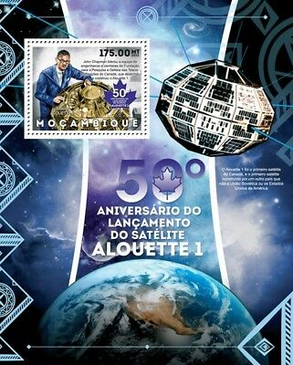 1962 ALOUETTE 1 DRDC (Canada) Satellite Space Stamp Sheet #2 (2012 Mozambique)