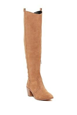 3185a34b713 Rebecca Minkoff Lizelle Western Suede Leather Over the Knee Boots Sz 6.5 NEW