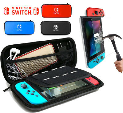 EVA Hard Protective Carrying Bag And Screen Protector Film For Nintendo Switch