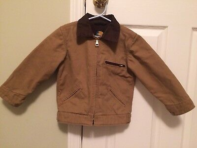 Bass Pro Shops Toddler Boys Size 2T Canvas Rancher winter Jacket fully zip lined