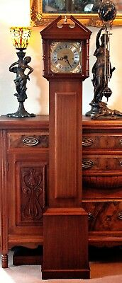 """Vintage """"Richard Broad"""" Grandmother Clock with Westminster Chimes & Manual"""