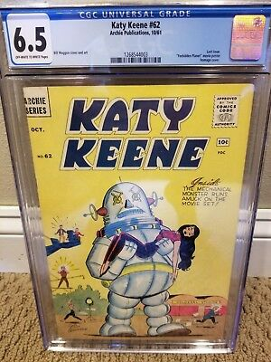 Katy Keene #62 CGC 6.5 Very Scarce In Grade Forbidden Planet Homage Final Issue