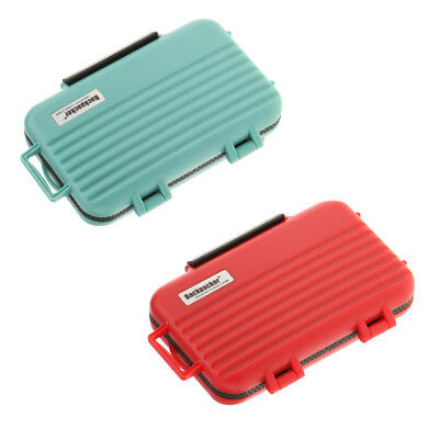 SD CF TF Card Storage Case Holder Protective Box Water Resistant - Green+Red