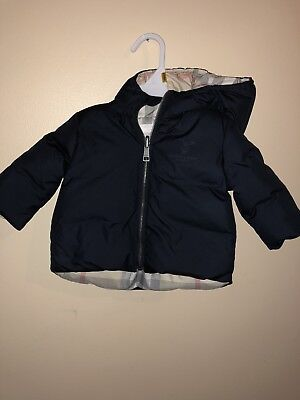 Baby Burberry Winter Coat Size 3 Months