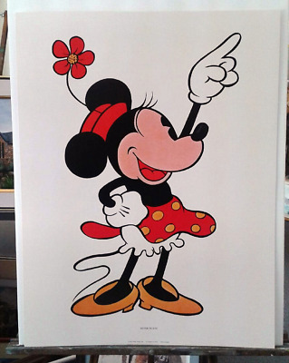 "VINTAGE WALT DISNEY ""MINNIE MOUSE"" - ABRAMS Art Print made in Japan"