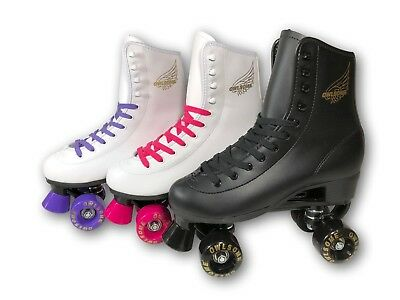 Owlsome High Top Boot Style Soft Faux Leather Roller Skate For Adult & Youth