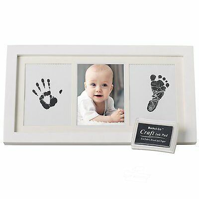 Baby Hand & Footprint Photo Frame Kit by Bubzi Co Baby Shower/Christening Gift