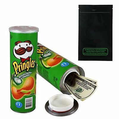 Pringles Stash Can Diversion Safe Large Sour Cream  Onion Free Shipping Tax0