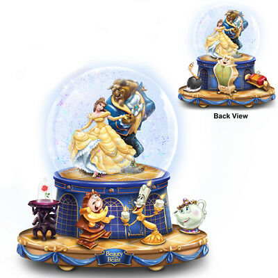 Beauty and the Beast Belle Princess Glitter Snow Globe Rotating Disney