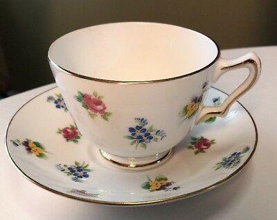 Crown Staffordshire Fine Bone China Teacup And Saucer  Made In England