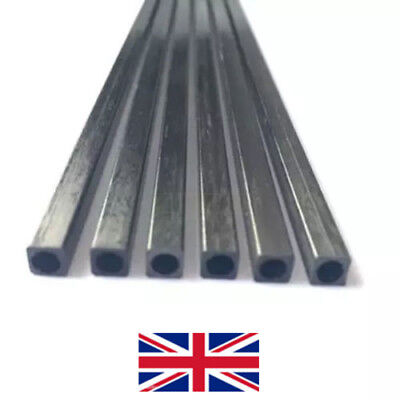 3*3-10*10mm L:25-50cm Square Carbon Fiber Square Tube Pipe Round Hole Pole