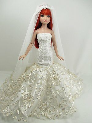 Outfit Dress Wedding Gown with veils Tonner Tyler Essential Ellowyne # 202