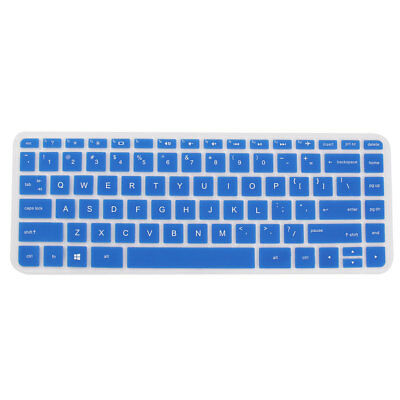 Computer Silicone Anti Dust Protector Keyboard Cover Blue for HP 034,  14 inch