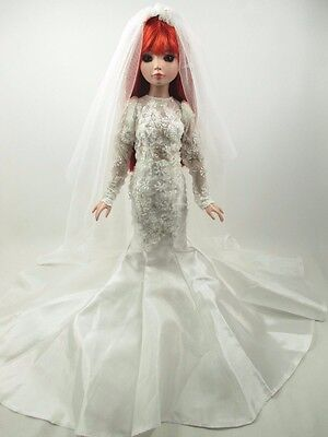 Outfit Dress Wedding Gown with veils Tonner Tyler Essential Ellowyne # 800-16