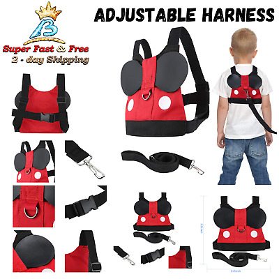 Toddler Baby Kids Anti Lost Harness Belt With Cute Mini Strap Safety Leash New