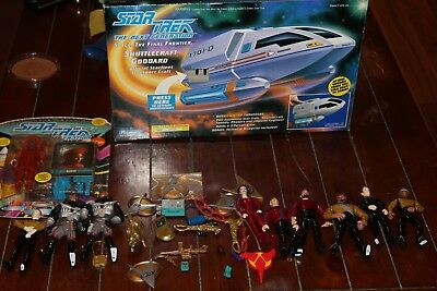 Star Trek Action Figures TNG Playmates 1992 & New In Box Shuttle Craft Goddard