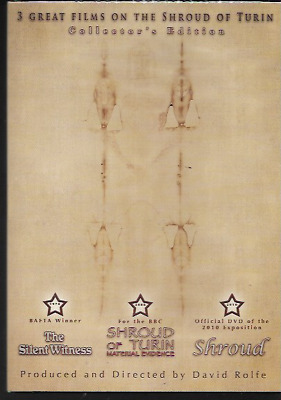 3 Great Films On The Shroud Of Turin Collector's Edition R2 Dvd New/sealed