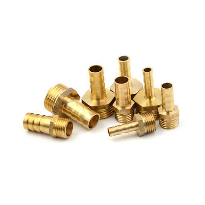 2 Pieces Brass Hose Nippler Pipe Joint Fittings OD 6MM 8MM 10MM 12MM MD