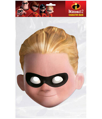 Dash Parr Official Incredibles 2 Single 2D Card Party Face Mask