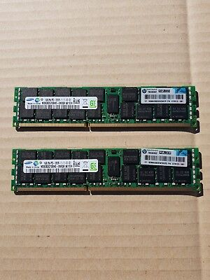 HP 16GB 2Rx4 PC3-12800R SERVER RAM 672612-081 PULLED G8 -12 mths Warr