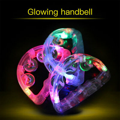 Sensory Led Light Up Flashing Tambourine Shaking Sensory Toy Glowing Handbell