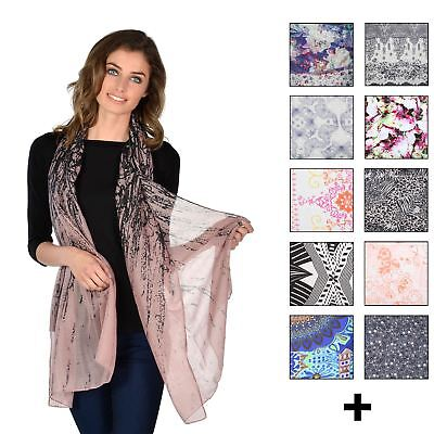 Womens Lightweight Scarf Snood Shall Wrap Fashion Accessory In Assorted Designs