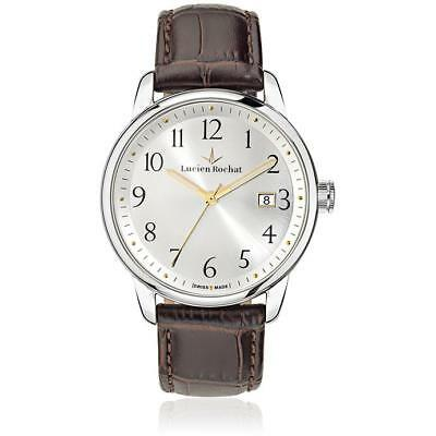 Mens Wristwatch LUCIEN ROCHAT GESTE R0451107004 Leather Brown Classic SWISS MADE