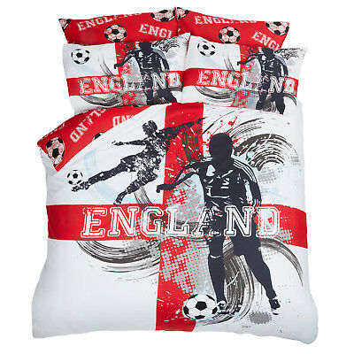 Dreamscene England Football Duvet Cover with Pillowcase Set Red White From £9.99