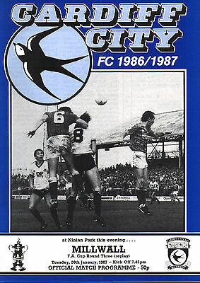 1986/87 Cardiff City v Millwall, FA Cup, PERFECT CONDITION