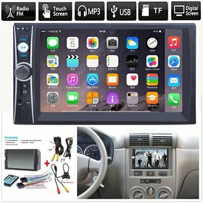 "2DIN 7"" HD Car Stereo Radio MP5 Player Bluetooth Touch Screen + Rear Camera"