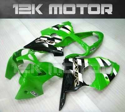 KAWASAKI NINJA ZX-6R ZX6R 2000 2001 2002 Fairing Set Fairings Kit Panel Green 9