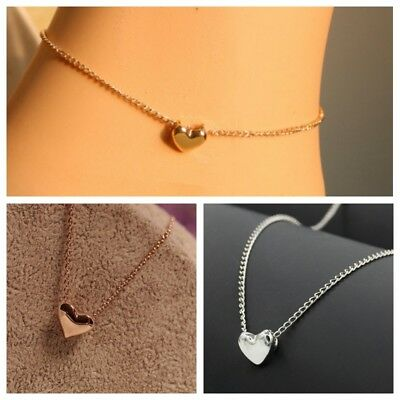 Fashion Women Elegant Short Golden Love Clavicle Chain Fashion Heart Necklaces