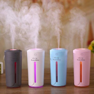230ML Mini Cup Shape Air Humidifier USB Charging Colorful Night Light Mist YW3