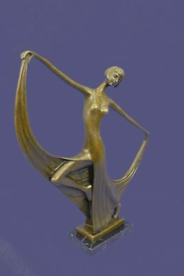 Bronze Sculpture Statue ART NOUVEAU SIGNED MILO MODEL DANCER FIGURINE FIGURE AB