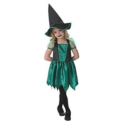 Rubie's Official Green Spider Witch Costume Girls Small - Halloween Fancy Dress